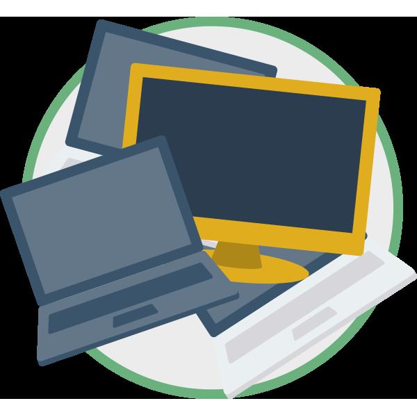 Skærme, monitorer og udstyr med skærme > 100 cm2